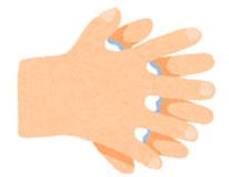 指の間を洗います。