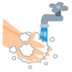 来院されたら院内に入る前に手洗いの徹底。院内でもこまめに手指消毒のご協力